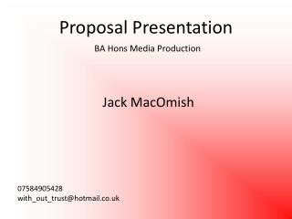 What are some good research proposal presentation slides